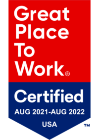 Great Place to Work® Certified Aug 2021-Aug 2022 USA